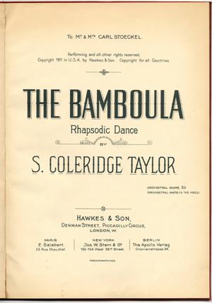 Bamboula Coleridge Taylor